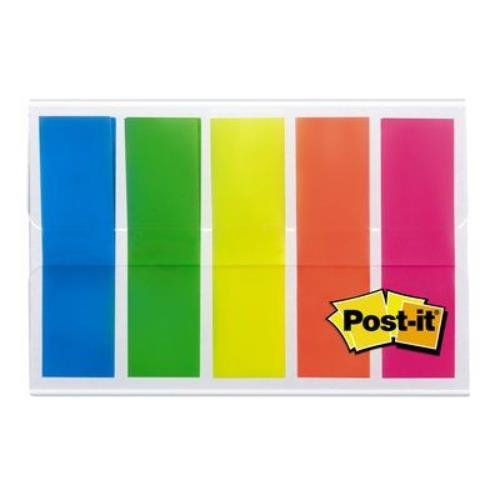 3M Post it 100 Index small translucent assorted