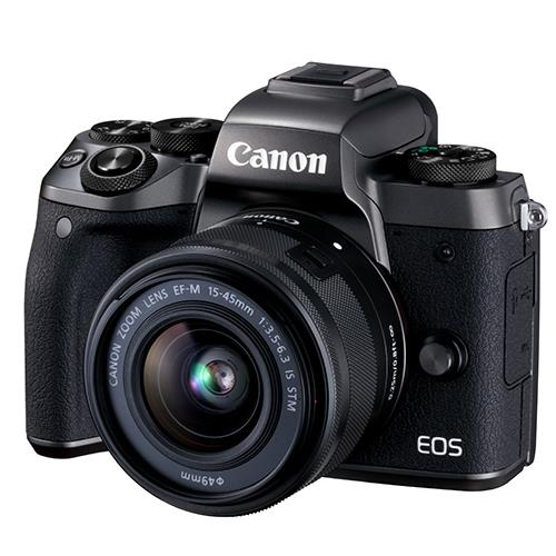 Canon EOS M5 Mirrorless Camera in Black with EF-M 15-45mm f/3.5-6.3 IS STM Lens