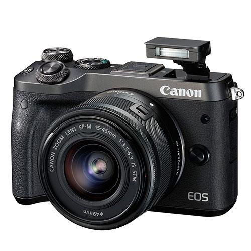 Canon EOS M6 Mirrorless Camera in Black with 15-45mm Lens
