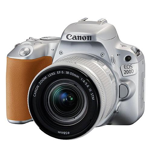 Canon EOS 200D DSLR in Silver with 18-55mm f/4-5.6 IS STM Lens