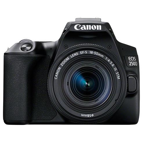 Canon EOS 250D DSLR with 18-55mm f4.0-5.6 STM IS Lens