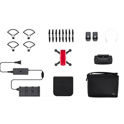 DJI Spark Drone Fly More Combo in Red