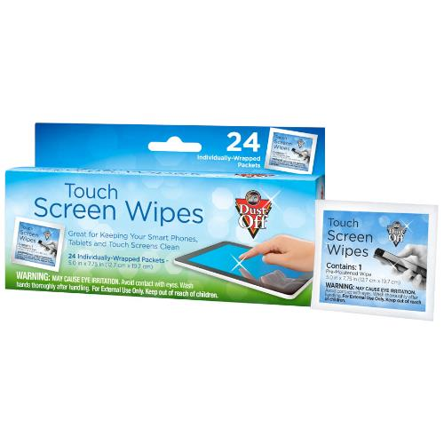 Dust-Off Touch Screen Wipes - 24 count Box