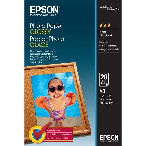 Epson Photo Paper Glossy A3 20 Sheet