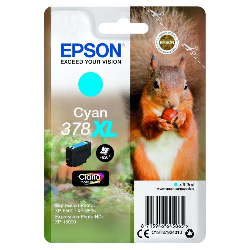 Epson Cyan 378XL Claria Photo HD Ink