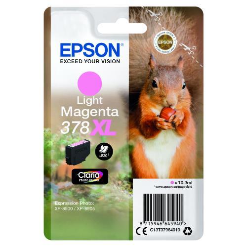 Epson Light Magenta 378XL Claria Photo HD Ink