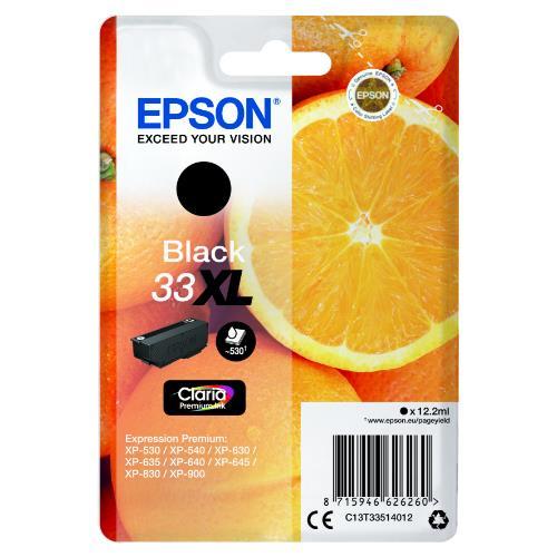 Epson Black 33XL Claria Premium Ink
