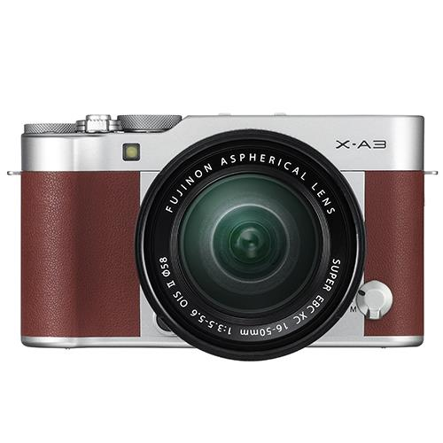 Fujifilm X-A3 Mirrorless Camera In Brown with XC16-50mm Lens