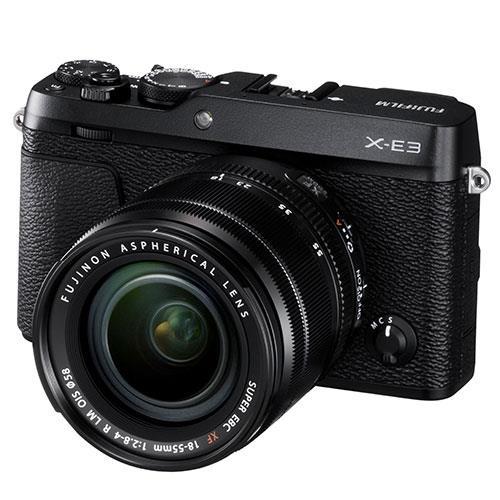 Fujifilm X-E3 Mirrorless Camera in Black with XF18-55mm f/2.8-4.0 Lens