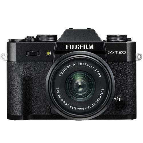 Fujifilm X-T20 Mirrorless Camera in Black with XC15-45mm f/3.5-5.6 OIS PZ Lens