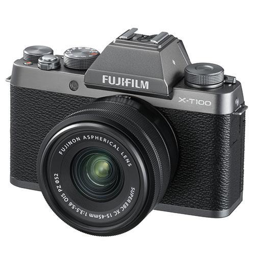 Fujifilm X-T100 Mirrorless Camera in Dark Silver + XC15-45mm lens