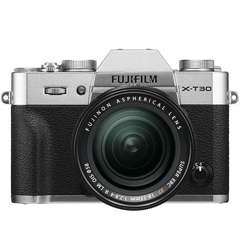 Fujifilm X-T30 Mirrorless Camera in Silver with XF18-55mm Lens