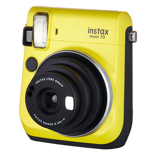 Instax mini 70 Instant Camera in Yellow with 10 Shots