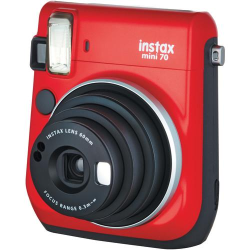 Instax mini 70 Instant Camera in Red with 10 Shots
