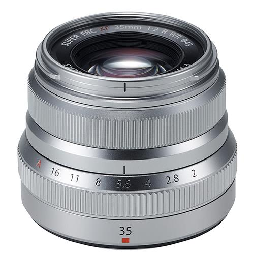 Fujifilm XF35mm f/2.0 R WR Lens in Silver