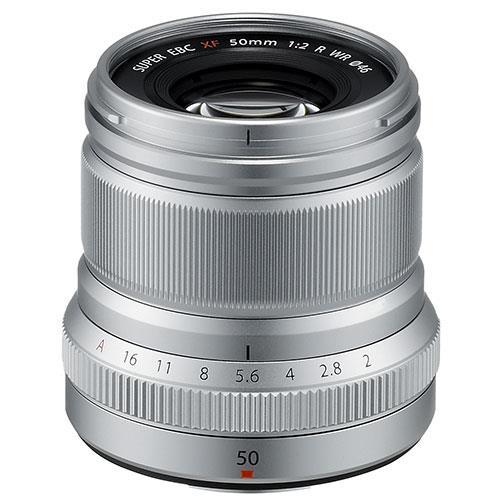 Fujifilm XF50mm f/2.0 R WR Lens in Silver