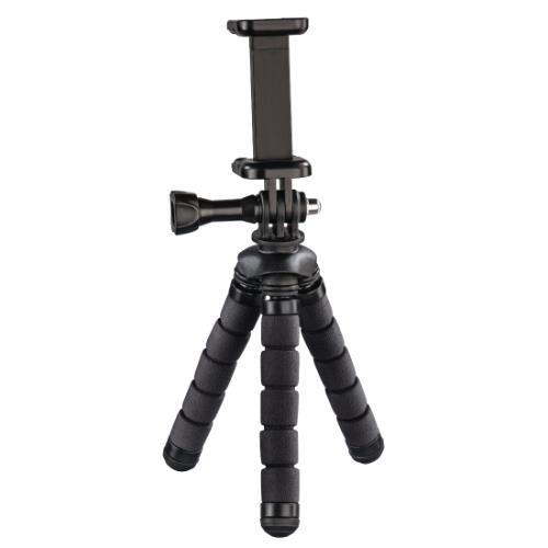 Hama Flex Mini-Tripod for Smartphone and GoPro 14cm Black