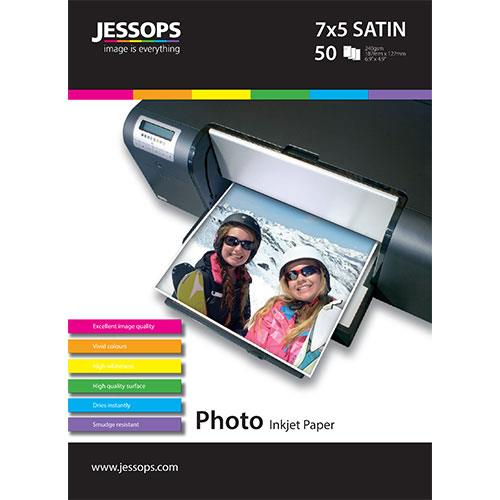 Jessops Inkjet 7x5 Satin Photo Paper 240gsm- 50 Sheets