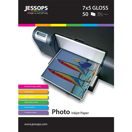 Jessops Inkjet 7x5 Gloss Photo Paper - 50 Sheets