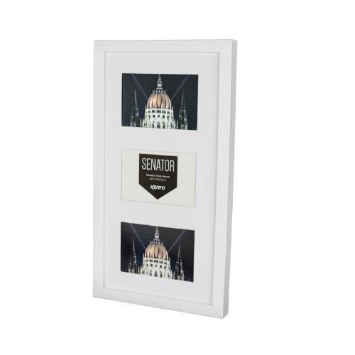 Kenro Senator White Frame with mat for 3 photos 6x4 / 10x15cm
