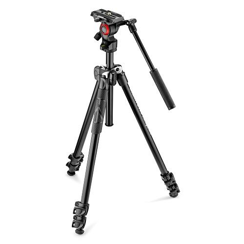 Manfrotto 290 Light Tripod with Befree Live Fluid Video Head