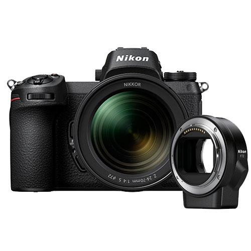 Nikon Z 7 Mirrorless Camera + 24-70mm f/4 S Lens and FTZ Mount Adapter