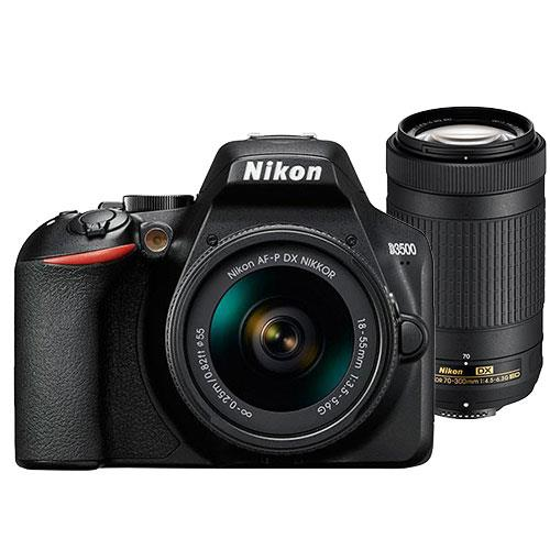 Nikon D3500 Digital SLR with AF-P 18-55mm and 70-300mm Non-VR Lenses