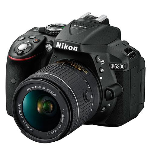 Nikon D5300 Digital SLR in Black with 18-55mm AF-P VR Lens