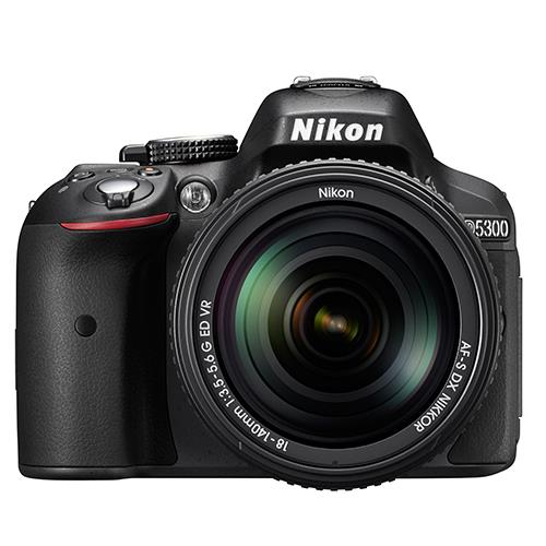 Nikon D5300 Digital SLR in Black with 18-140mm f/3.5-5.6 G VR Lens