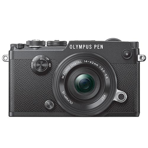 Olympus PEN-F Mirrorless Camera in Black with 14-42mm f/3.5-5.6 Lens