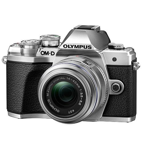 Olympus OM-D E-M10 Mark III Mirrorless Camera in Silver with 14-42mm R Lens