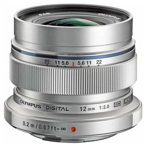Olympus M.Zuiko Digital ED 12mm f/2.0 Lens in Silver