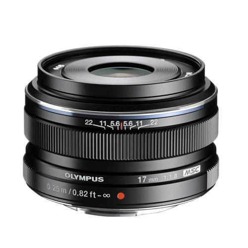 Olympus M.ZUIKO Digital 17mm f1.8 Lens in Black