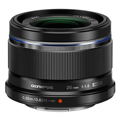 Olympus M.Zuiko Digital 25mm f/1.8 Lens in Black
