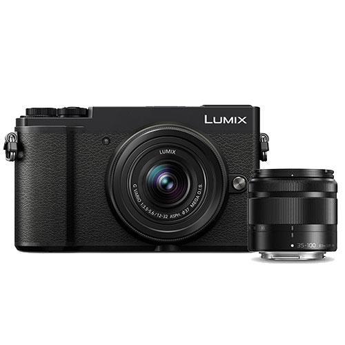 Panasonic Lumix GX9 Mirrorless Camera in Black with 12-32mm and 35-100mm Lenses