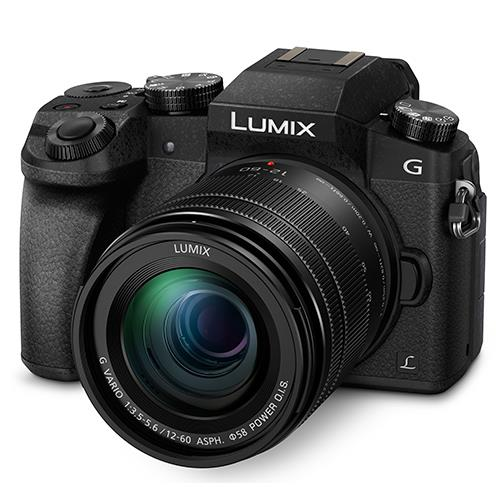 Panasonic Lumix DMC-G7 Compact System Camera in Black with 12-60mm Lens