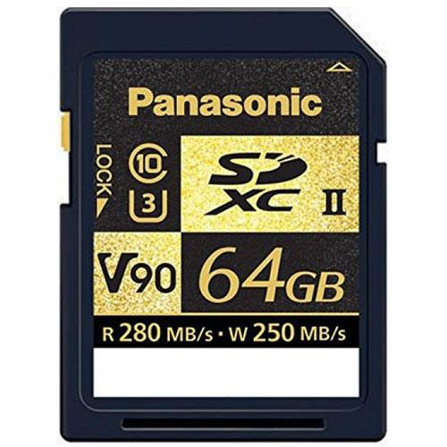 Panasonic 64GB SDXC V90 U3 C10 Memory Card