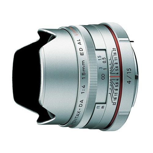 Pentax DA 15mm f/4 ED AL Limited Lens in Silver