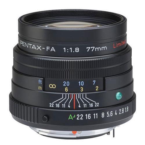 Pentax SMC-FA 77mm f/1.8 Limited Lens in Black