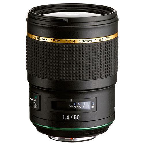 Pentax HD FA 50mm F/1.4 SDM AW Lens
