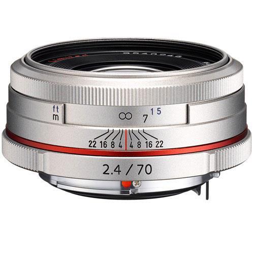 Pentax 70mm F2.4 HD DA Silver Lens