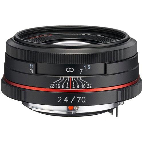 Pentax 70mm f/2.4 HD DA Lens in Black