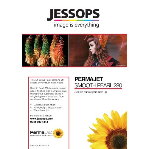Permajet Jessops Smooth Pearl A4 Paper - 20 sheets