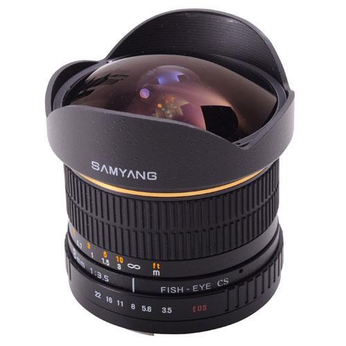 Samyang 8mm f/3.5 UMC Fisheye CS II Lens (Canon EF)
