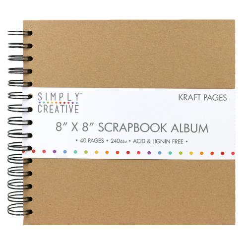 Simply Creative Album 8x8  Plain Kraft