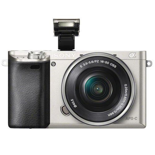 Sony A6000 Mirrorless Camera in Silver with 16-50mm Power Zoom Lens