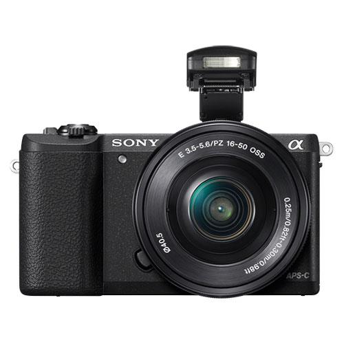 Sony A5100 Compact System Camera in Black with 16-50mm Power Zoom Lens