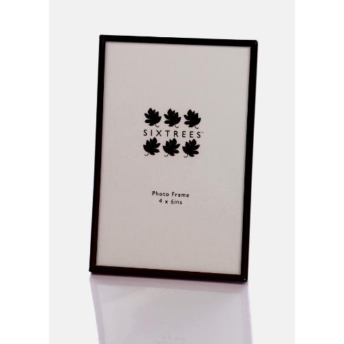 Sixtrees Cambourne Shiny Black 4x6 Frame