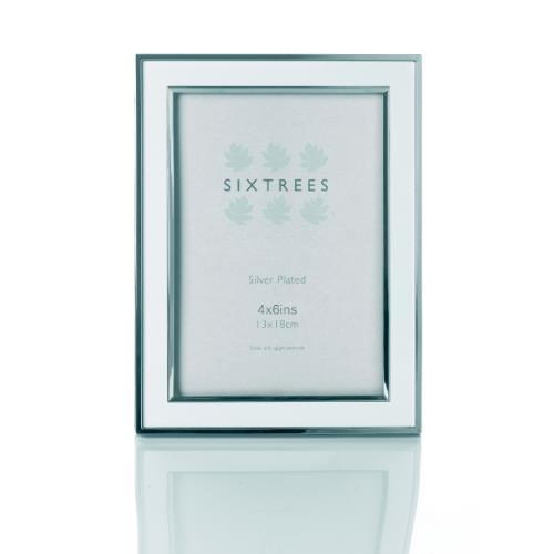 Sixtrees Abbey White/Silver Aluminium 8x10 Frame