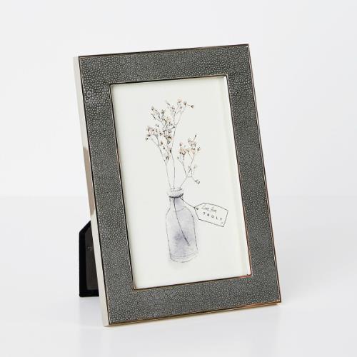 Truly Shagreen Grey Photo Frame 5x7